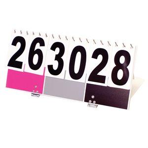 KIN-BALL® scoreboard, pink / grey / black