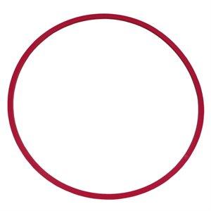 Heavy-duty flat hoop, red