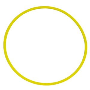 Heavy-duty flat hoop, yellow