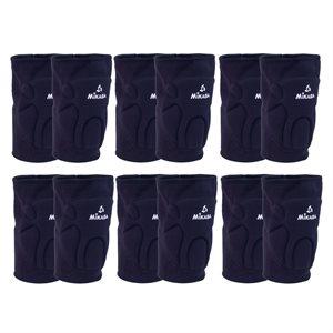 6 pairs of knee pads, black