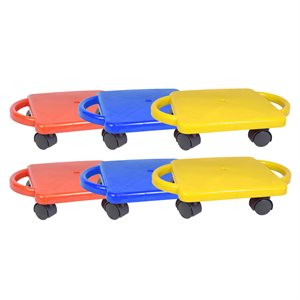 6 scooter boards with handles