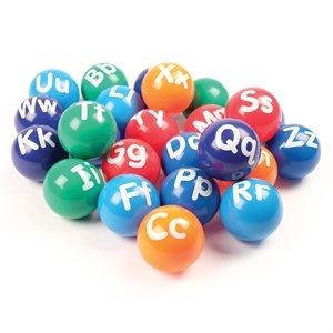 26 vinyl alphabet balls