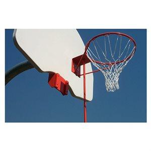 Removable basketball rim, fan-shaped backboard