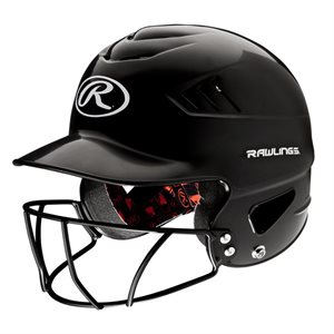 "Batting helmet with face guard, 6.5""-7.5"""