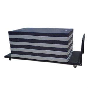 Horizontal mat cart