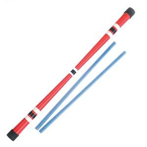 Ultra adherent devil stick with 2 sticks