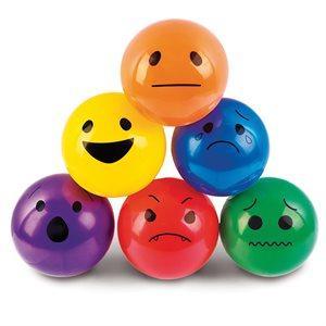 6 funny face balls