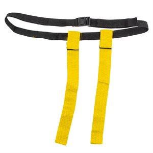 Flag football belt, yellow Velcro flags