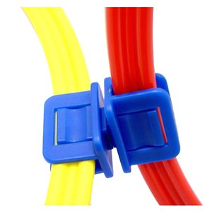 Set of 4 flat hoop clips