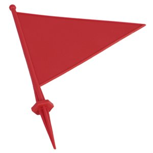 Field flag marker with spike, red