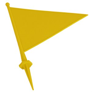 Field flag marker with spike, yellow