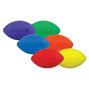 6 mini foam footballs