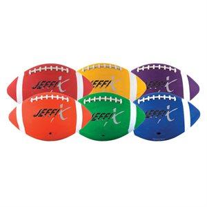 6 recreational rubber footballs