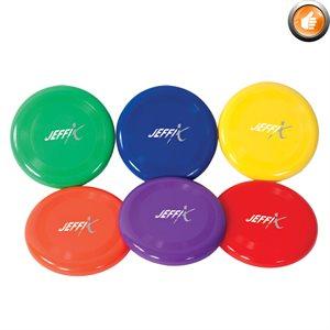 6 plastic frisbees