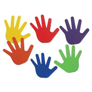 12 hand-shaped spot markers
