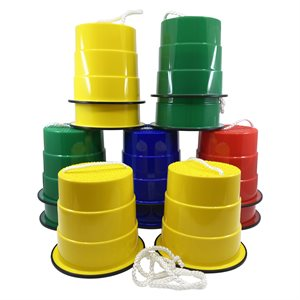 6 pairs of plastic mini high steppers