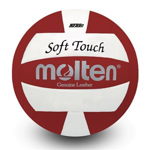 Molten leather volleyball red / white