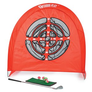 Foldable golf practice set