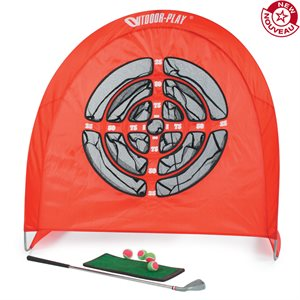 Foldable golf practice set