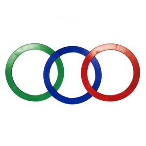 3 flexible juggling rings, 32 cm