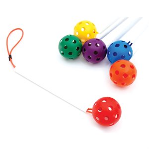 6 ankle balls with PVC rod