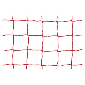 Soccer net, red, 8'x24'x3'x8'