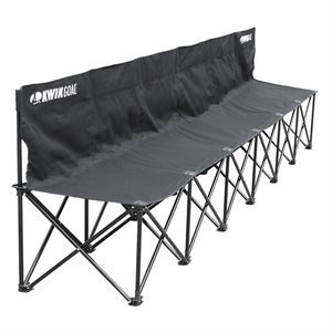 "6-seat portable Kwik bench, black, 16""x18"""