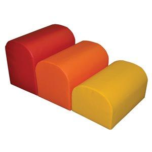 Set of 3 foam mailbox modules