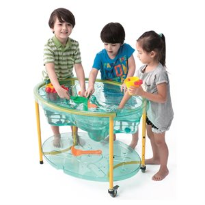 Sand & water table on wheels