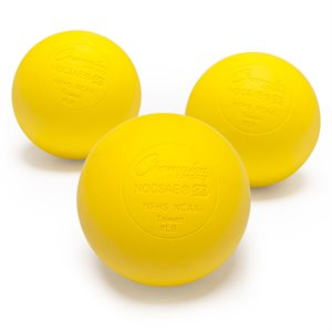 3 official lacrosse balls, yellow