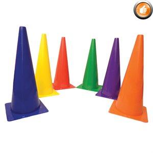 6 rigid plastic cones