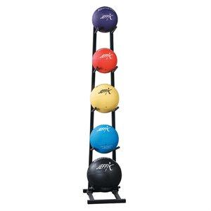 medicine balls and rack