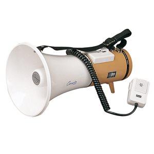 Megaphone w / handheld microphone and siren
