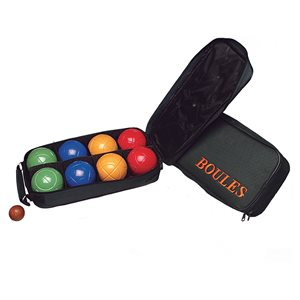 Bocce ball game set with carry case