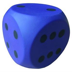 PVC covered foam dice, 6""