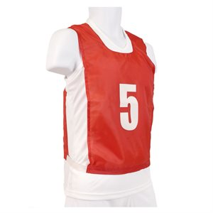 12 numbered pinnies, JR, red