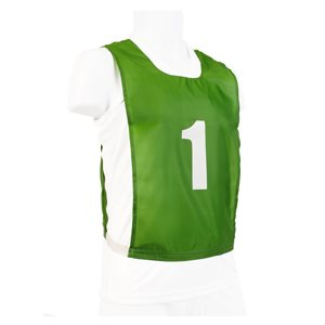 15 numbered pinnies, JR, green