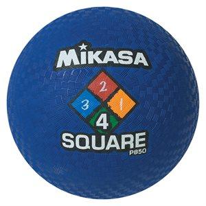 Four Square playground ball, blue
