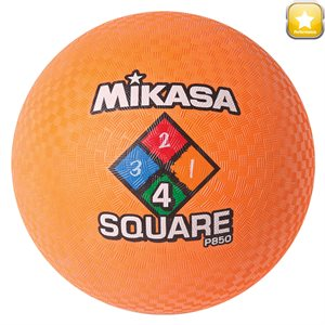 Four Square playground ball, orange