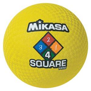 Four Square playground ball, yellow