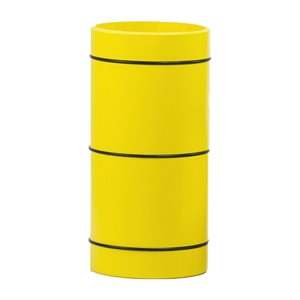 Roll Play, 12.5 cm, rubber stripes, yellow