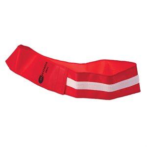 Velcro identification belt, red