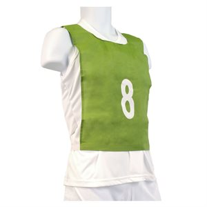 15 child-size pinnies, green