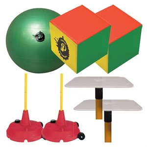 Official Poull-Ball set, inflatable cubes