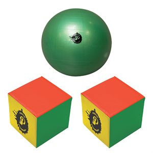 Mini Poull-Ball set, inflatable cubes