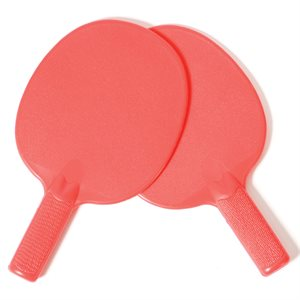 Plastic table tennis paddles