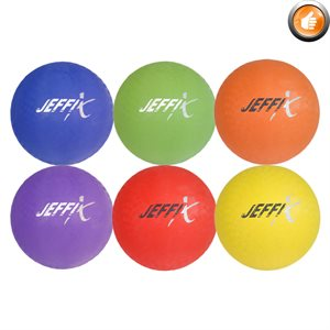 Set of 6 playground rubber balls
