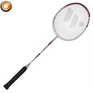 Badminton racquet, graphite shaft