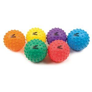 "6 bumpy soft PVC ball, 3"""