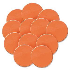 12 spot markers, orange
